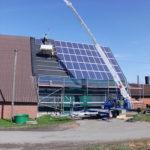 Dachdeckermeister Bernhard Nelle Ahlen Solaranlage Baukran